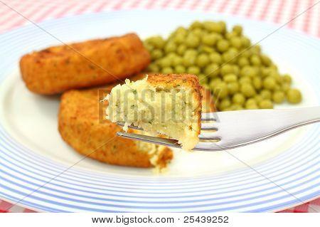 Fish Cake On Fork
