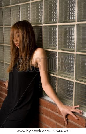 Pressed Against The Wall With Black - Fashion Series