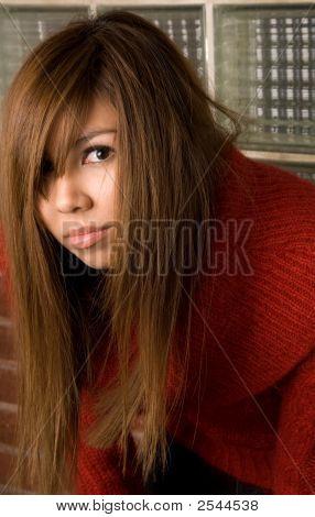 Messy Hair Head Shot - Fashion Series