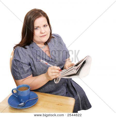 Businesswoman - Poor Job Market