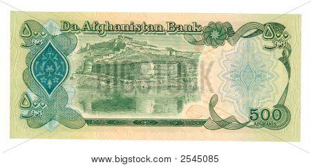 500 Afghani Bill Of Afghanistan