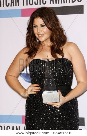 LOS ANGELES - NOV 20:  Hillary Scott of Lady Antebellum in the Press Room at the 2011 American Music Awards at Nokia Theater on November 20, 2011 in Los Angeles, CA