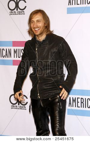 LOS ANGELES - NOV 20:  David Guetta in the Press Room at the 2011 American Music Awards at Nokia Theater on November 20, 2011 in Los Angeles, CA