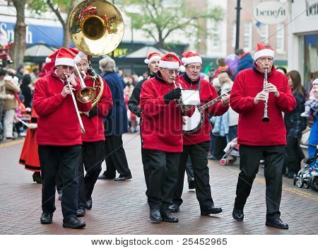 Christmas parade brass band