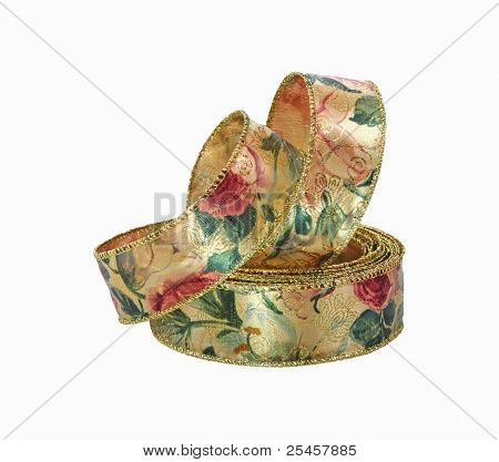 Decorative Wide Floral Ribbon
