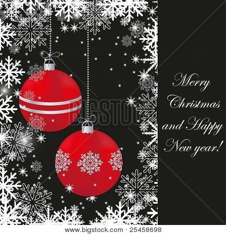 Bright  christmas card. Jpeg version