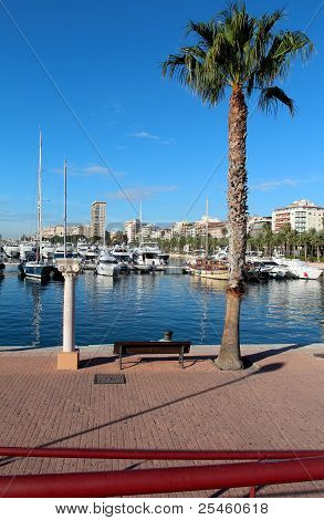 Boats in the Marina, Alicante, Spain