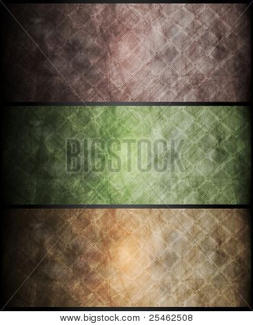 Set of vector grunge banners. Eps 10
