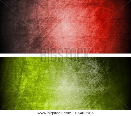 Set of abstract textural banners. Eps 10