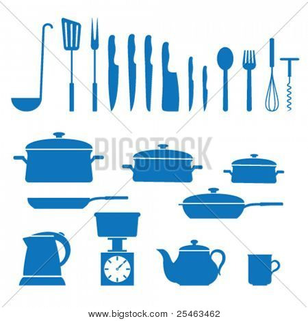 Vector illustration of icons on kitchen appliances