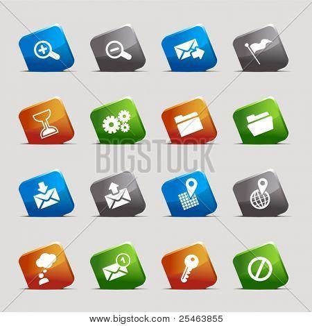 Schneiden Sie Plätze klassische Web-icons