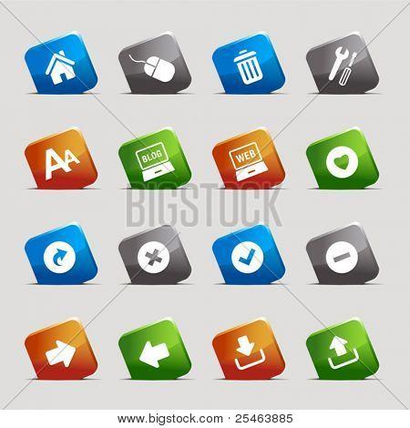 Schneiden Sie Quadrate - klassische Web-icons