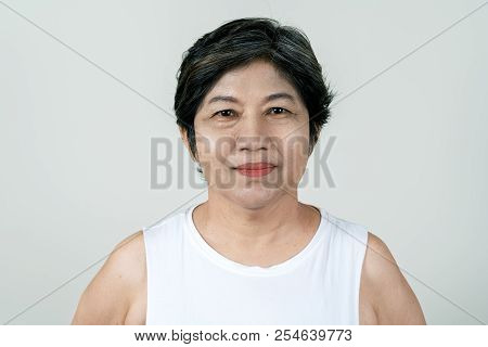 Portrait Of Attractive Senior Asian