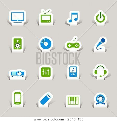 Scherenschnitt - Media icons