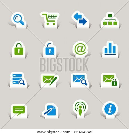 Paper Cut - Website and Internet Icons