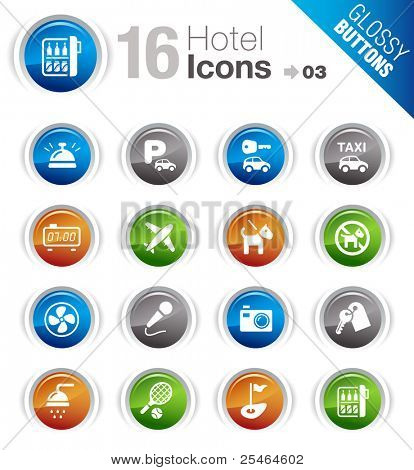 Glossy Buttons - Hotel icons