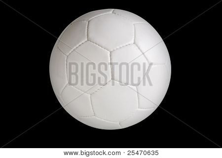 Soccer ball isolated on black background, clipping path included