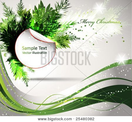 Christmas Abstract Design in Green.