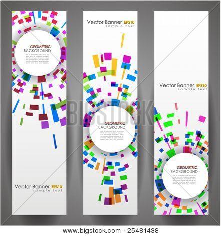 Geometric Circles Banner Set. 160x600. Vector Illustration. EPS10