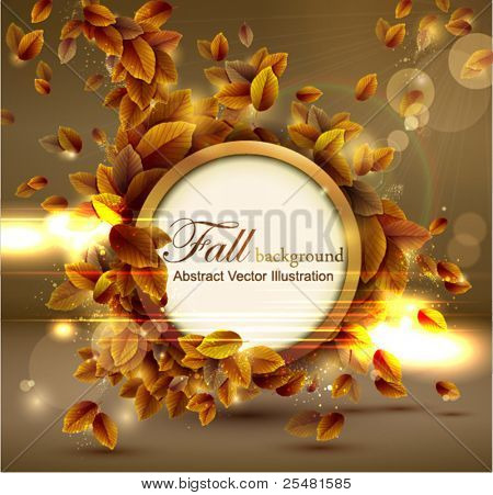 Shiny sensual autumn background with lights. Vector illustration. Eps 10.