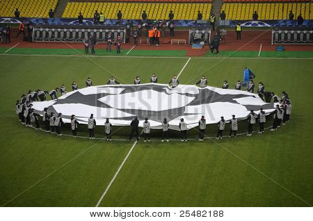 MOSCOW - NOVEMBER 23: Spartak Moscow verses Olympic Marsel in the Champions League, November 23, 2010. Lujniki stadium had 50000 people in this day