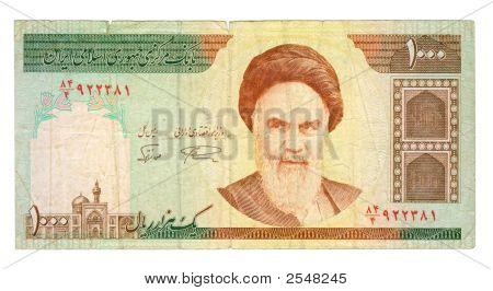 1000 Riel Bill Of Iran