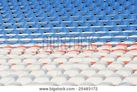 Vacant seats on stadium