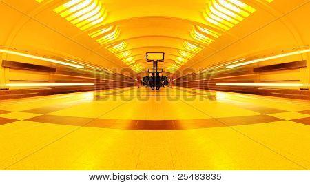 symmetric underground station