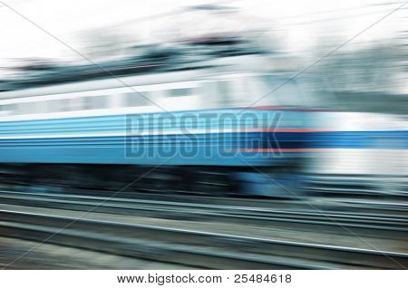 Train on the way