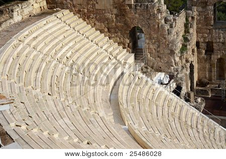 Odeon in Acropolis in Greece