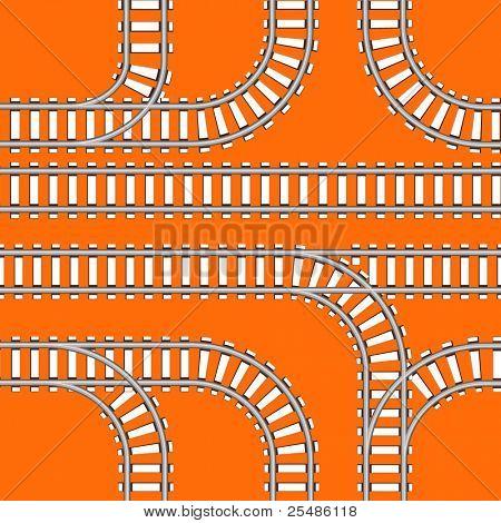 Seamless background of railway tracks