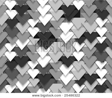 Seamless background of grey abstract triangle waves