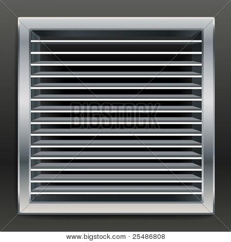 Fotorealistische Badezimmer-Lüftung-Fenster. Vektor