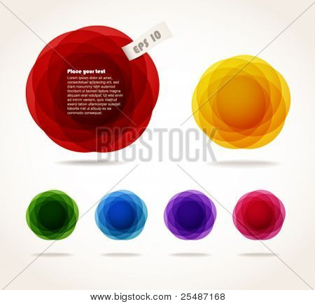 Color abstract bubbles set. Ready for a text