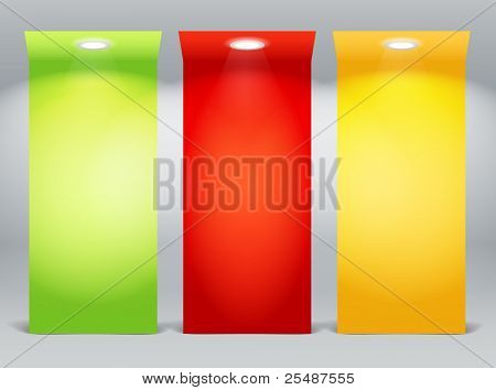 Colorful illuminated boards