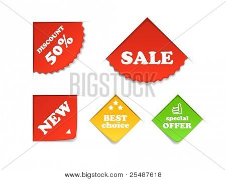 Colorful shopping labels collection