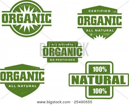Organic and Natural Stamp Designs