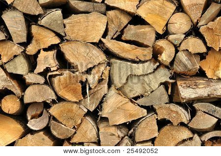 texture background of stored light wood cut