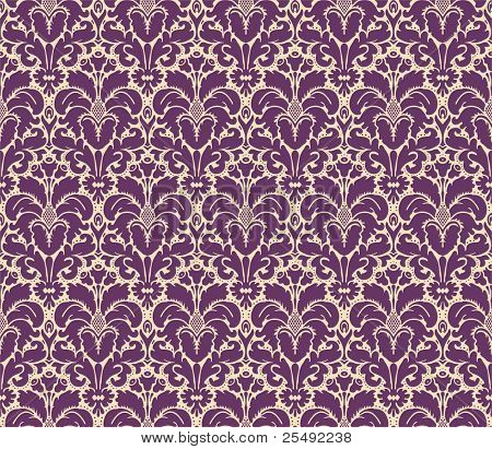 Seamless floral vintage damask background
