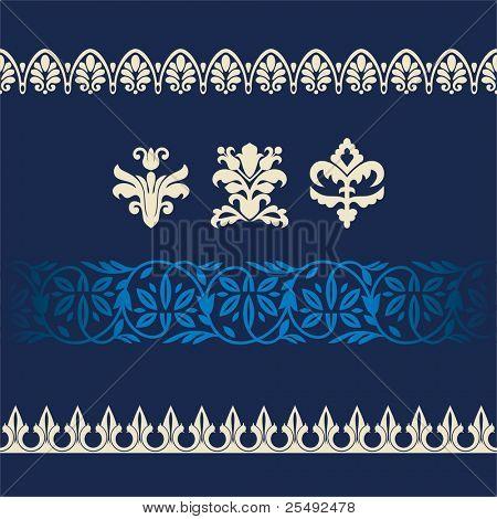 Satz von verschiedenen Rahmenformatvorlage und Ornamente