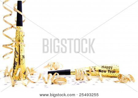 New Years Eve party noisemaker border