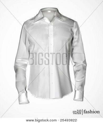 Vector white man's shirt