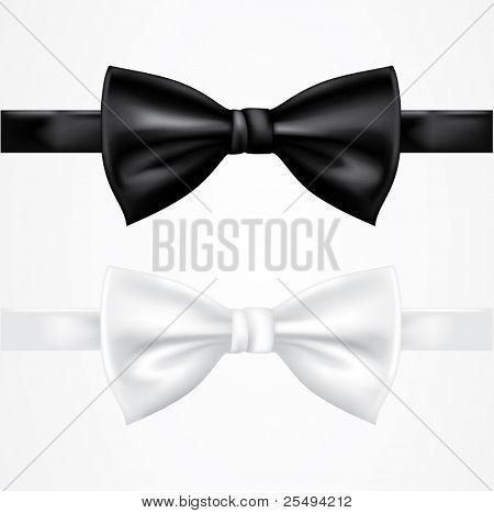 Vector black and white tie