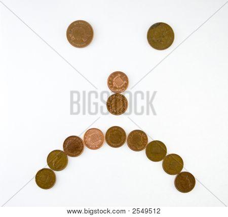 Sad Made Of Coins