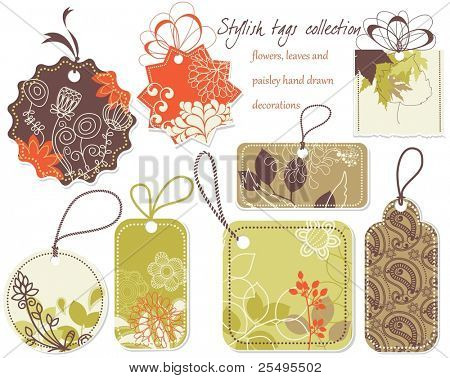 Stylish price tags collection