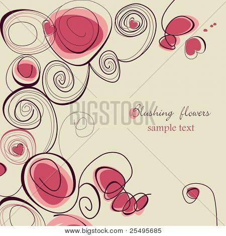 Blushing flowers