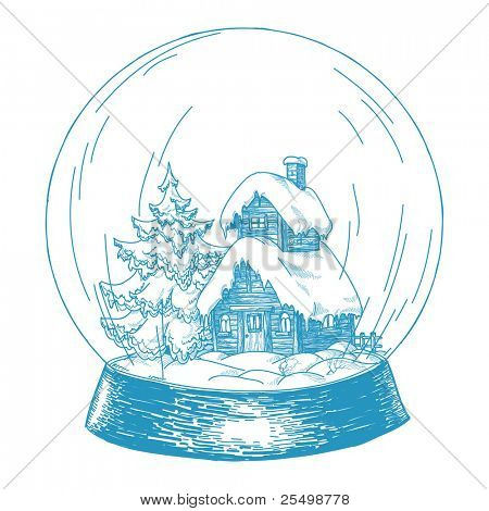 Cartoon snowglobe