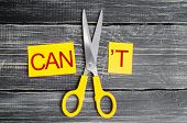 I Can Self Motivation - Cutting The Letter T Of The Written Word I Cant So It Says I Can, Goal Achi poster