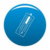 Big Thermometer Icon. Simple Illustration Of Big Thermometer Icon For Any Design Blue poster