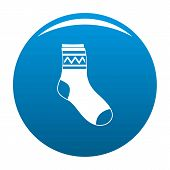 Fabric Sock Icon. Simple Illustration Of Fabric Sock Icon For Any Design Blue poster